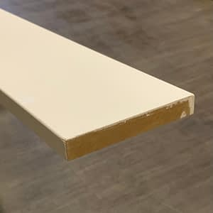 Primed MDF Baseboard 1 by 5-Taiga