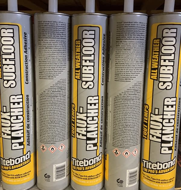 Subfloor Adhesive-D&R Flooring and Renovations