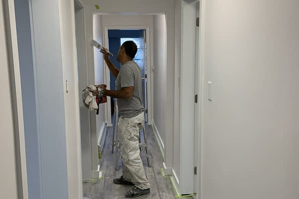 Painting the walls-D&R Renovation