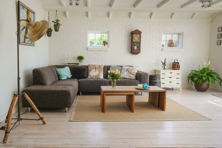 A freshly renovated living room